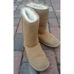 Bearpaw uggs style leather & wool boots -sz 6